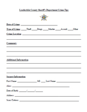 Online Forms - Lauderdale County Sheriff's Office